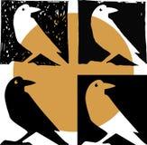 Siluetta del corvo nel vettore illustrazione di stock