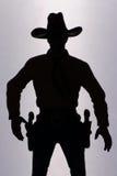 Siluetta del cowboy Immagine Stock