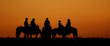 Siluetta del cowboy Fotografie Stock