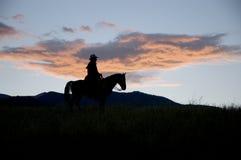 Siluetta del cowboy Immagine Stock Libera da Diritti