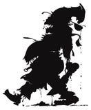 Siluetta del cuoco unico dello zombie royalty illustrazione gratis