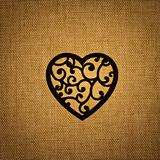 Siluetta del cuore immagini stock libere da diritti