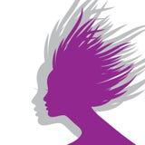 Siluetta del fronte della donna Immagine Stock Libera da Diritti