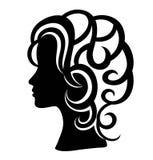 Siluetta del fronte della donna, progettazione di vettore di arte Immagine Stock Libera da Diritti