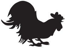 Siluetta del gallo Immagine Stock