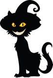 Siluetta del gatto di Halloween Immagine Stock