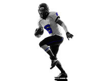 Siluetta del giocatore di football americano fotografia stock libera da diritti