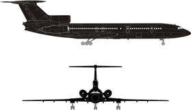 siluetta del jet del Ciao-particolare Fotografia Stock