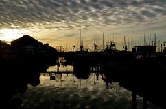 Siluetta del molo di San Diego fotografia stock libera da diritti