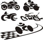 Siluetta del motociclo - marchio Illustrazione Vettoriale