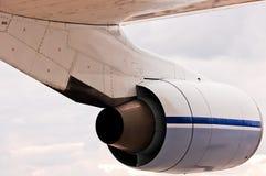 Siluetta del motore di aerei del turboreattore Fotografia Stock