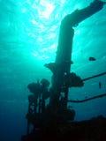 Siluetta del naufragio Fotografie Stock