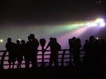 Siluetta del Niagara Falls Fotografie Stock Libere da Diritti