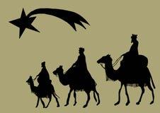 Siluetta del Re Magi illustrazione di stock