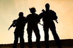 Siluetta del soldato Fotografia Stock Libera da Diritti