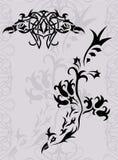 Siluetta del tatuaggio di Phoenix di fantasia Fotografie Stock Libere da Diritti