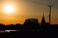 Siluetta del tempio Immagine Stock Libera da Diritti