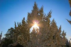 Siluetta del tempio bianco pubblico Immagine Stock Libera da Diritti