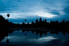 siluetta del tempio di Angkor Wat, Cambogia Fotografia Stock