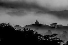 Siluetta del tempio di Borobudur Immagini Stock