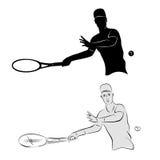 Siluetta del tennis Immagine Stock Libera da Diritti