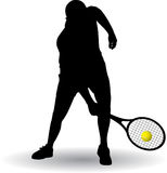 Siluetta del tennis Immagine Stock