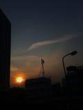 Siluetta del tramonto Fotografia Stock Libera da Diritti
