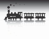 Siluetta del treno illustrazione vettoriale