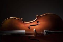 Siluetta del violoncello Fotografie Stock Libere da Diritti