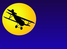 Siluetta dell'aereo dell'annata Fotografie Stock