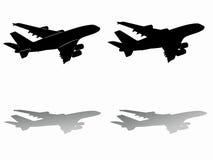 Siluetta dell'aereo di linea Illustrazione di vettore Fotografia Stock Libera da Diritti