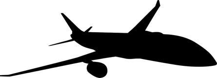 Siluetta dell'aereo passeggeri Fotografie Stock