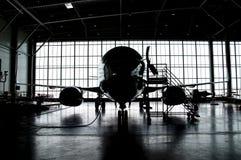 Siluetta dell'aeroplano Immagini Stock Libere da Diritti
