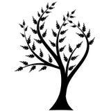 Siluetta dell'albero di arte Immagini Stock Libere da Diritti