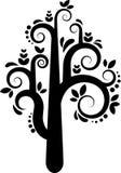 Siluetta dell'albero di vettore Fotografie Stock