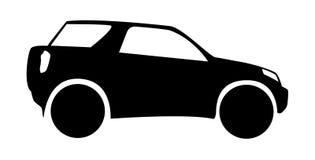 Siluetta dell'automobile fuori strada Immagini Stock Libere da Diritti
