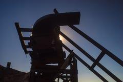 Siluetta dell'ingranaggio di estrazione mineraria Immagine Stock