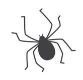 Siluetta dell'insetto del segno di spunta Fotografie Stock