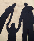 Siluetta dell'ombra della famiglia Fotografia Stock