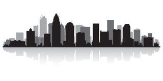 Siluetta dell'orizzonte della città di Charlotte North Carolina illustrazione vettoriale