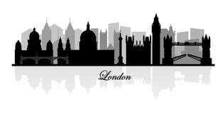 Siluetta dell'orizzonte di Londra di vettore Fotografie Stock Libere da Diritti