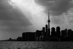 Siluetta dell'orizzonte di Toronto Fotografia Stock Libera da Diritti