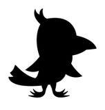 Siluetta dell'uccello immagine stock