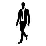 Siluetta dell'uomo di affari nel moto royalty illustrazione gratis