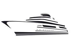 Siluetta dell'yacht barca Nave royalty illustrazione gratis