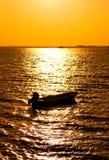 Siluetta della barca Immagini Stock Libere da Diritti