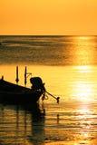 Siluetta della barca a vela fotografie stock