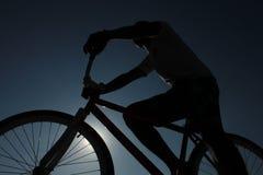 Siluetta della bici Immagini Stock Libere da Diritti
