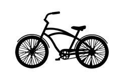 Siluetta della bicicletta Immagini Stock