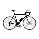 Siluetta della bicicletta della strada Fotografia Stock